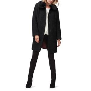 Jacques Vert Molly sparkle fur trim coat