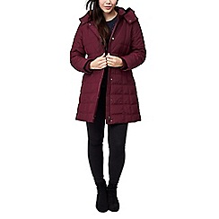 Precis - Petite quilted hooded coat