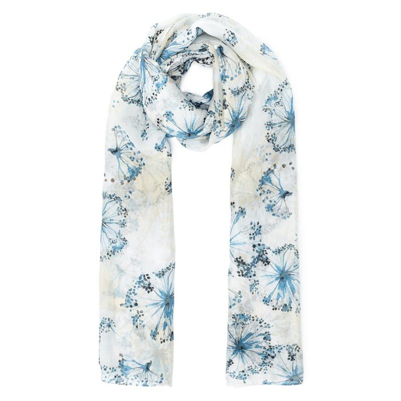 Eastex Painted dandelion silk scarf