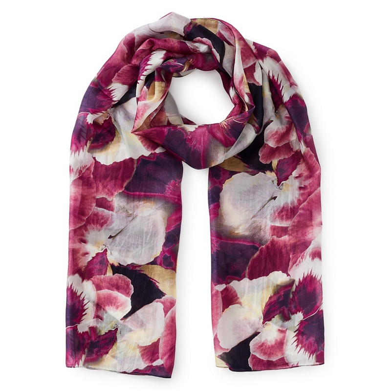 Eastex Silk harvest bloom scarf