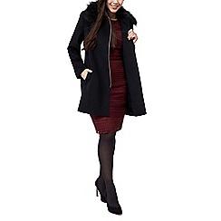 Precis - Suzie faux fur trim zip coat