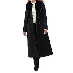 Jacques Vert - Ellie faux fur trim long coat