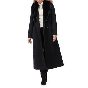 Jacques Vert Ellie faux fur trim long coat