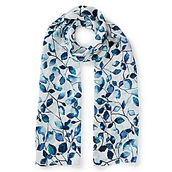 Eastex - Inky Leaves Print Scarf