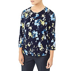 Eastex - Navy printed landscape top