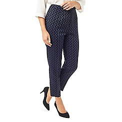 Eastex - Jacquard straight leg trousers