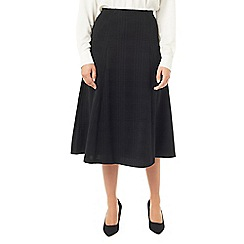Eastex - Ponte check flared skirt