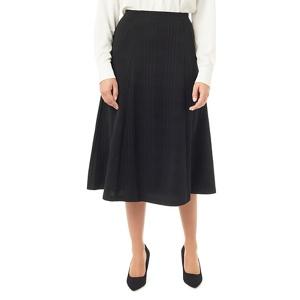 Eastex Ponte check flared skirt
