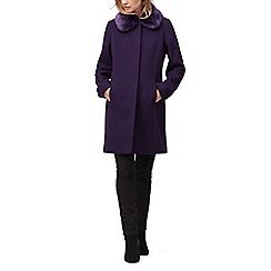 Jacques Vert - Molly faux fur trim coat