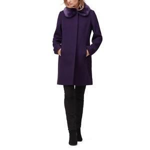 Jacques Vert Molly faux fur trim coat