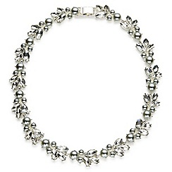 Jacques Vert - Pearl crystal collar necklace