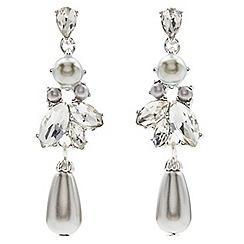 Jacques Vert - Pearl crystal drop earrings