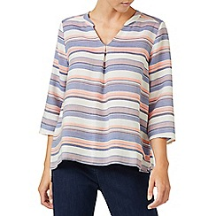 Dash - Linen multi stripe blouse