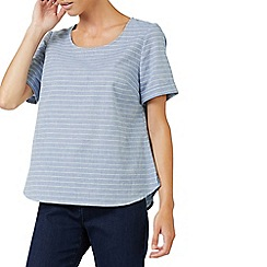 Dash - Linen fine stripe shell blouse