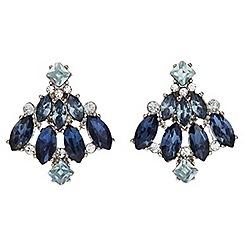 Jacques Vert - Ombre blues stud earrings