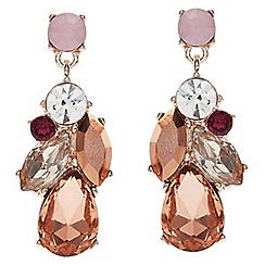 Jacques Vert - Mixed col crystal drop earrings