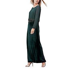 Jacques Vert - Velvet and beaded maxi dress
