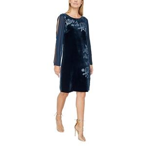 Jacques Vert Devore velvet tunic dress