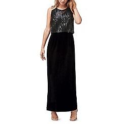 Jacques Vert - Embellished top velvet maxi dress