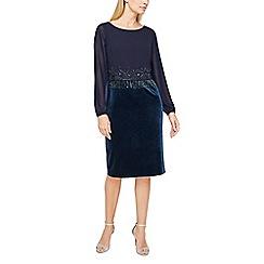 Jacques Vert - Velvet and bead cocktail dress
