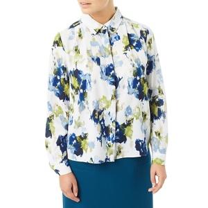 Eastex Painted landscape print blouse