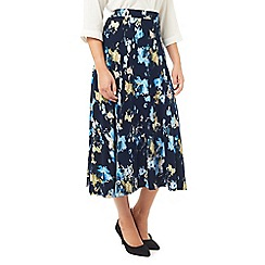 Eastex - Navy painted landscape skirt