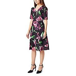 Precis - Petite tulip print wrap dress