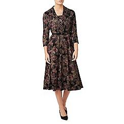 Eastex - Leaf print jersey dress