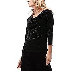 Jacques Vert - Renee cowl neck velvet top