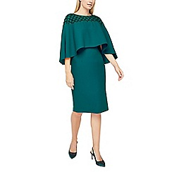 Jacques Vert - Embellished yoke cape dress