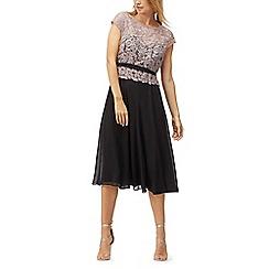 Jacques Vert - Lace bodice plisse midi dress
