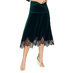 Jacques Vert - Renee velvet lace hem skirt