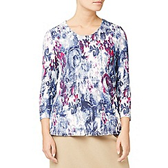 Eastex - Floral tapestry print top