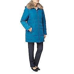 Eastex - Faux fur collar longline coat