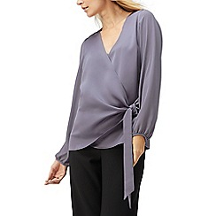 Jacques Vert - Gihan tie side satin blouse