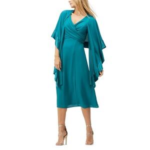 Jacques Vert Chiffon shawl midi dress
