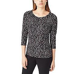 Precis - Petite abstract geo jersey top