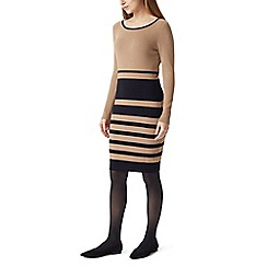 Precis - Petite stripe knitted dress