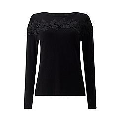 Precis - Petite applique trim knit top