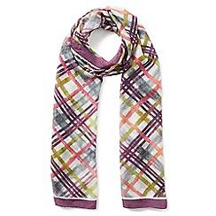 Eastex - Silk check scarf