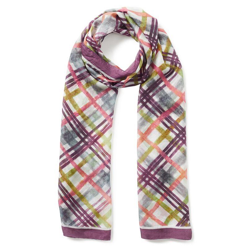 Eastex Silk check scarf