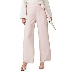 Precis - Petite pink tie front trouser