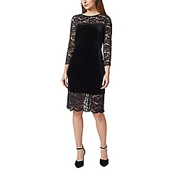 Precis - Petite velvet & lace dress
