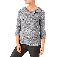 Eastex - Split neck ponte top