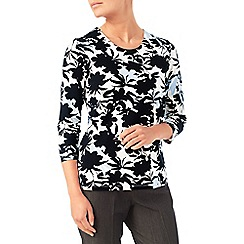 Eastex - Mono floral jersey top