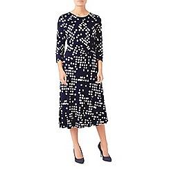 Eastex - Spot print jersey dress