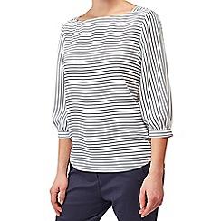 Precis - Petite stripe woven shell top