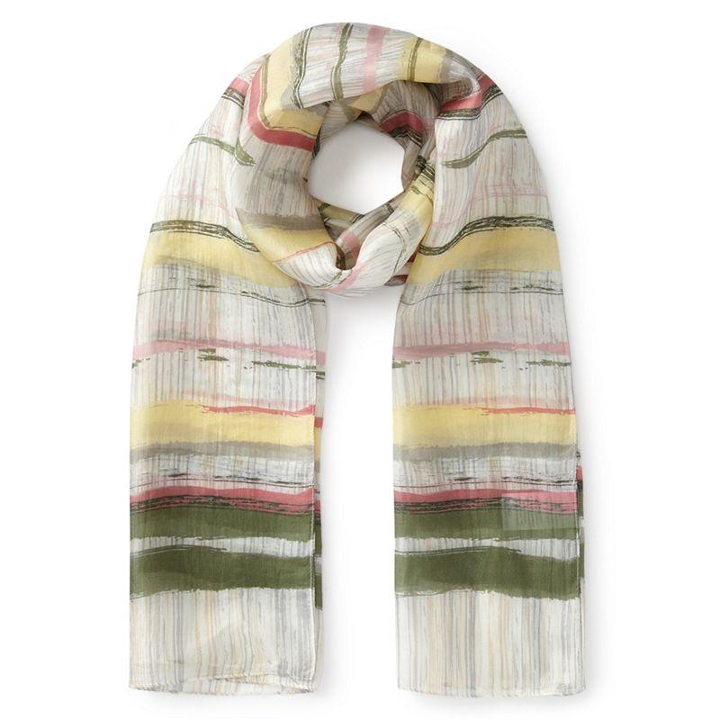 Eastex - Brushed Stripe Silk Scarf