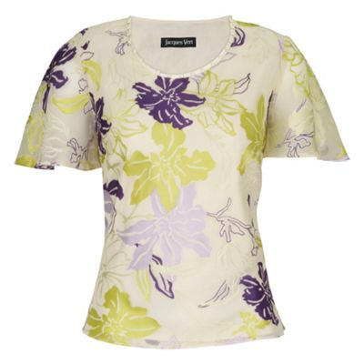 Jacques Vert Watercolour Floral Devore Top product image