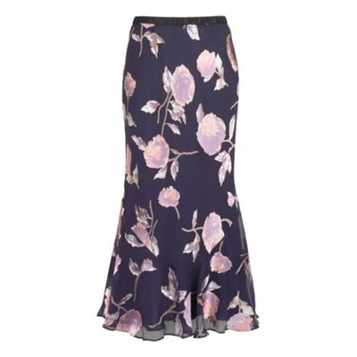 Jacques Vert Twilight Floral Devore Skirt product image